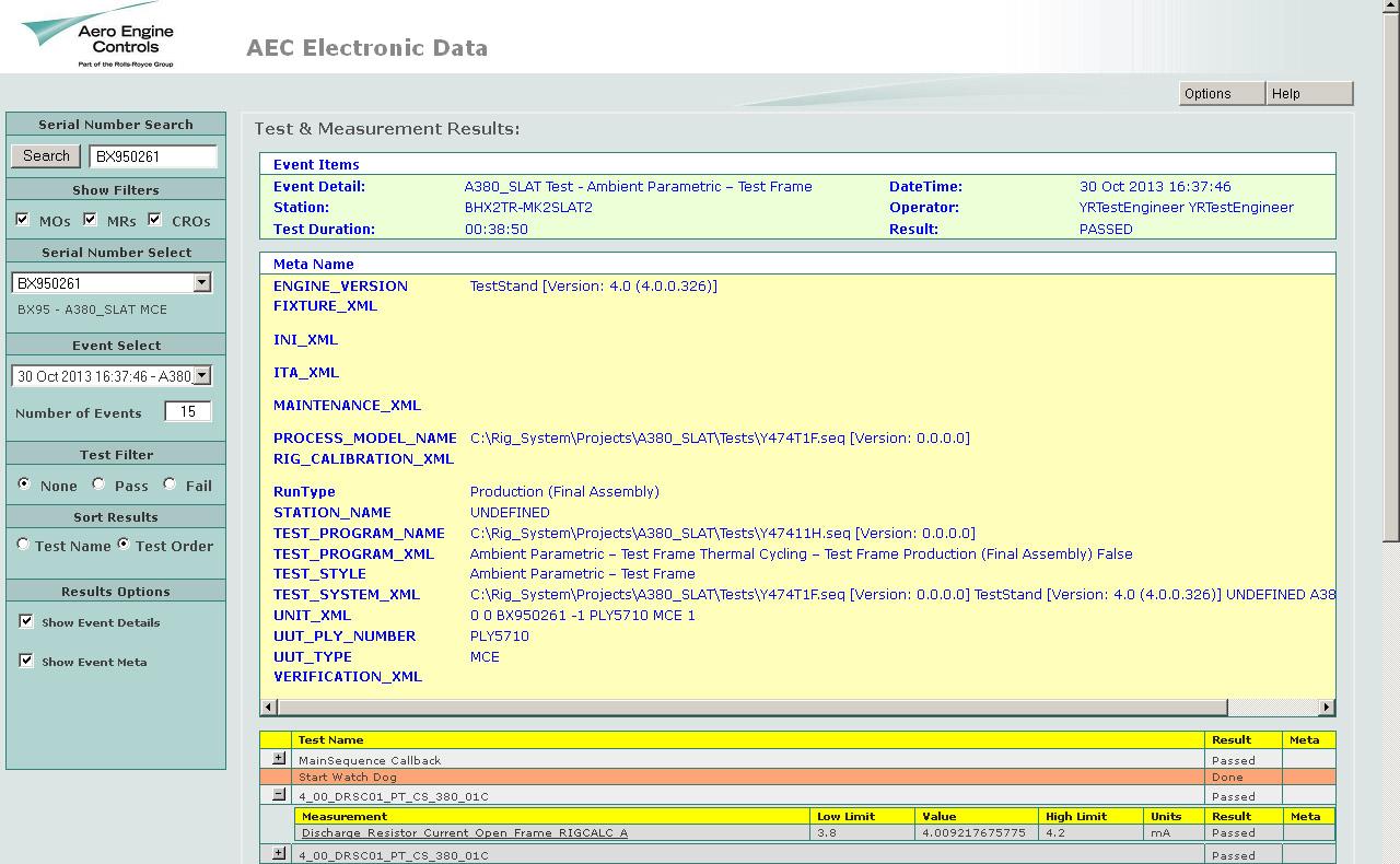 Serial Number Select - Meta Data