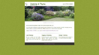 Jasmine & Thyme Website Design